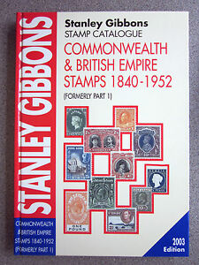 STANLEY-GIBBONS-COMMONWEALTH-amp-EMPIRE-1840-1952-STAMP-CAT-2003-EDITION-USED