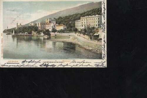 (33902)   Ansichtskarte Abbazia 1902 nach Wien