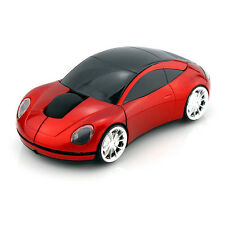 2.4GHz Wireless 3D 1600DPI Porsche Car Shape Usb Optical Mouse Mice RED UK STOCK