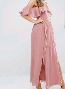 new products 5b2b6 bbf6c Details zu tfnc London, festliches Kleid, Hochzeit Abendkleid Farbe Dusty  pink, Gr. 36
