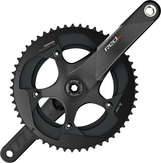 SRAM Red 22 11 Speed Exogram BB30 Carbon Road Bike Crankset eTap 36 52 x 165mm