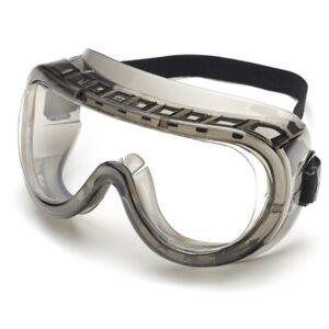 Elvex Legionnaire Safety Goggles, Clear Lens Anti-Fog Lens GG-25C-AF-AS