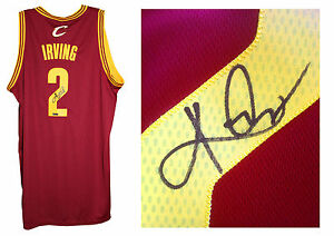 bae6a00c547 Kyrie Irving signed Cavaliers Swingman jersey L+2 auto Panini COA ...