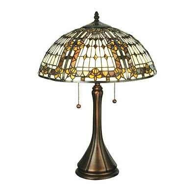 Meyda Lighting 22 5 H Fleur De Lis Table Lamp Beige Ha Green Blue Amber 27031 Ebay
