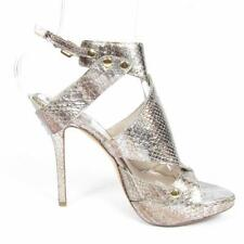 DIOR Snake Leather Gladiator High Heel Sandal Shoe - Sex and the City 7.5 38