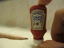 S002 Dollhouse Miniature Heinz Ketchup tomato sauce migros kitchen 1:4
