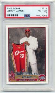 2003-04-Topps-Basketball-221-Lebron-James-RC-Rookie-PSA-8-NM-MT