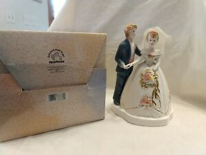 VTG-HTF-Josef-Originals-38662-Applause-Bride-and-Groom-wedding-figurine-7-5-034-NIB