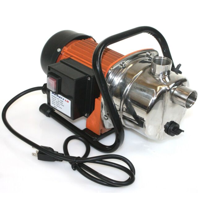 1.6 HP 1200 Watts  Stainless Steel Jet Booster Water Pump Pressure Pump 1000GPH