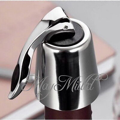 Stainless steel Reusable Vacuum Sealed Red Wine Storage Bottle Stopper Plug