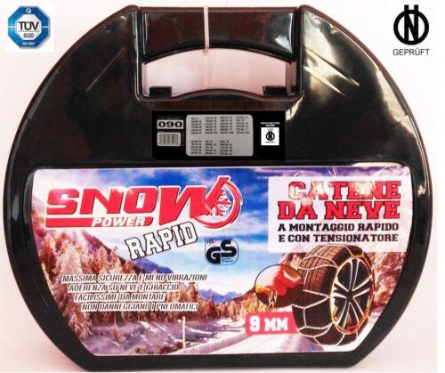 Catene da Neve 9 mm Omologate GRUPPO 90 Pneumatici 205 55 16 foto 2 altri