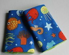 BABY CARRIER DRIBBLE/SUCK TEETHING PADS/STRAP PROTECTORS.Sealife.Tula,Ergo...