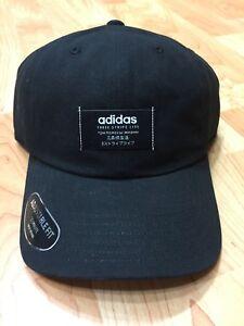 fabb49a4585b6 New Men s Adidas Impulse Black White Strapback Cap OSFA 716106848995 ...