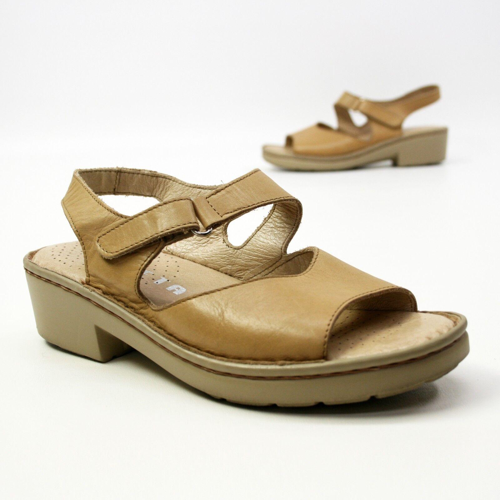 Zeeta 9.5 Ladies Size 40 (about 9.5 Zeeta US) Tan Leather Adjustable Ankle Strap Sandals fff8a7