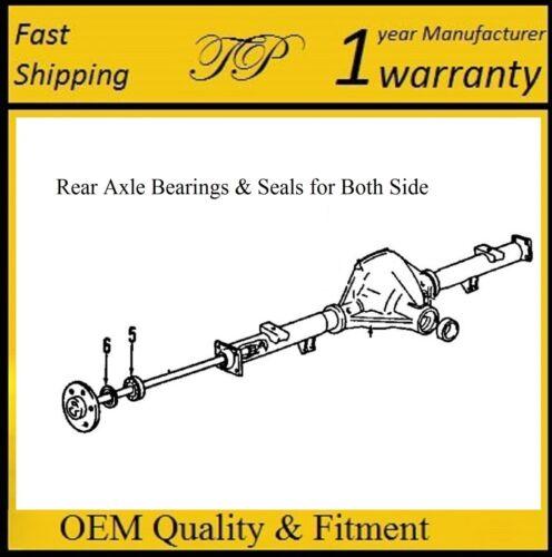 For New Axle PAIR 1994-1996 CHEVROLET IMPALA Rear Wheel Bearing /& Seal Set
