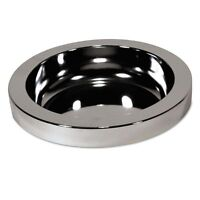 Rubbermaid Commercial Ashtray Top For Smoking Urns, Metal, 10 5/8 - Rcp2588chr on sale