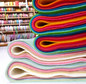 12-Square-COLOUR-PACKS-10-pieces-Premium-Wool-Blend-Felt-40-wool