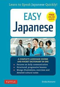 Easy-Japanese-Learn-to-Speak-japanese-Quickly-by-Emiko-Konomi-NEW-Book-FREE