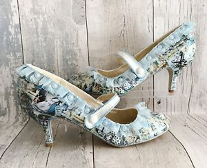 personalizzati In Abiti Alice Wonderland Retro 8 Shoes Decoupage Taglie da sposa uk 3 xY5wqfaf
