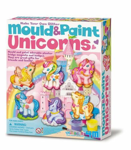 4M Mould And Paint Unicorns Plaster Casting Kit Creative Art Christmas Gift Xmas