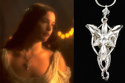 NEW Movie Lord of the Ring Elves Princess Arwen EVENSTAR DragonSilver Necklace
