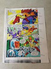 FIRESTORM ANNUAL #1 ORIGINAL ART color guide BATTLE PAGE, TOKAMAK, 1983