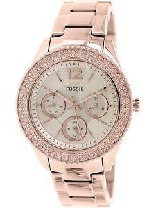 Fossil-Women-039-s-Stella-ES3590-Rose-Gold-Stainless-Steel-Quartz-Fashion-Watch