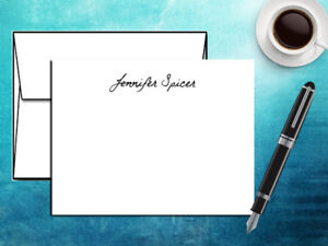 personalized notecards w name notecards envelopes custom