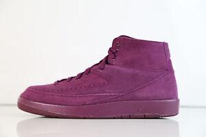 2574e99e13a140 Nike Air Jordan Retro 2 Decon Burgundy Bordeaux Suede 897521-606 9 ...
