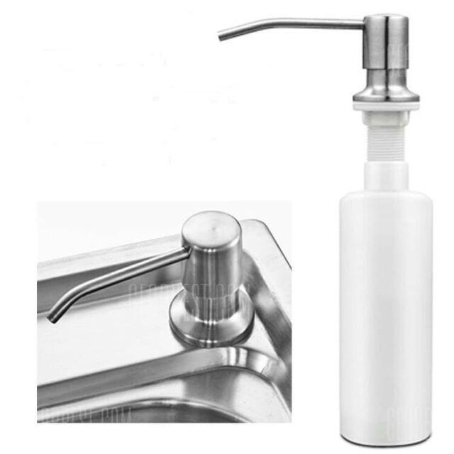 Large Soap Dispenser Stainless Steel Built In Pump Kitchen Sink Dish Chrome 17oz For Sale Online Ebay