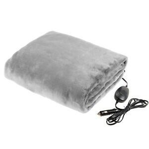 Image Is Loading Electric Soft Car Heated Blanket Throw 12v Plug