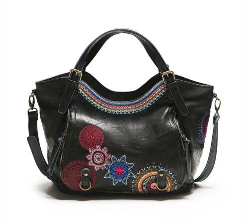 Damentasche Handtasche Henkeltasche DESIGUAL Bols Rotterdam Amber Negro