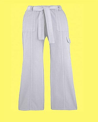 Simply Be Ladies Combats Cotton Trousers 30 in 12 16 18 Plus Size 28 30 UK White