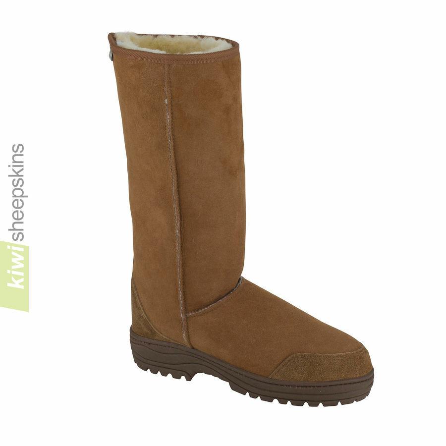Ultimate Sheepskins Tall Stiefel Full Calf Tan UK 5 US 7 LN099 UU 01