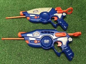 Vintage-Lot-Of-2-1996-Nerf-Cyber-Strike-Blaster-Walker-Talkie-Guns