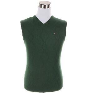 Tommy-Hilfiger-Men-039-s-Classic-Argyle-V-Neck-Vest-Sweater-Free-0-Shipping