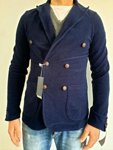 Veste Primo Emporio Homme 2037095 18106 Blue Bleu Mélange Coton Élégant Neuf