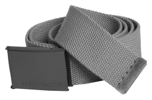 URBAN CLASSICS ® Basic Canvas Belt stoffa cintura uomo donna cintura 120cm