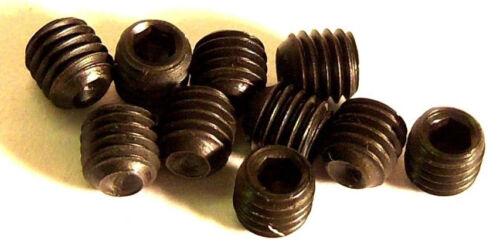M4 x 4mm 4 x 4 Black Grub Screws x 10 2mm Head