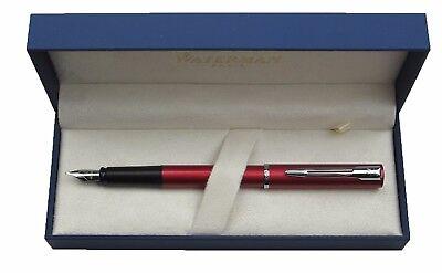 Waterman Allure Metallic Red /& Silver  Fountain Pen Fine Pt New In Box