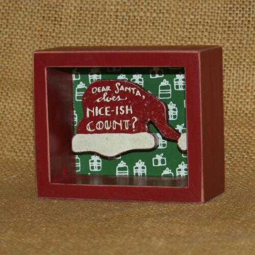 Does Nice-ish Count Christmas Shadow Box Primitives by Kathy Dear Santa