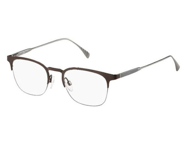 5a6e7ca297a Tommy Hilfiger Eyeglasses 1385 0qfx Matte Brown Gray 50mm for sale ...