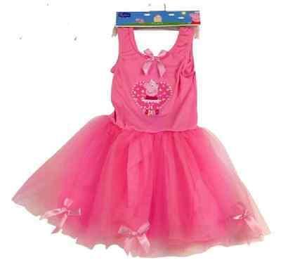 Little Girls Toddlers Peppa Pig Ballet Tutu Style Summer Dress - Choose Size/Age