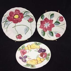 Blue-Ridge-Southern-Potteries-SPI-Red-Nocturne-Poinsettia-Fruit-Fantasy-Lot-3