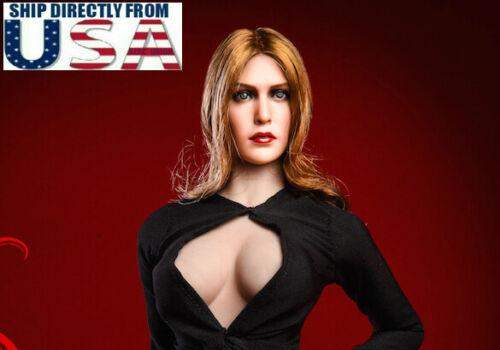 """1//6 Elizabeth Olsen Scarlet Witch Head Sculpt 4.0 pour 12/"""" Hot Toys PHICEN U.S.A."""