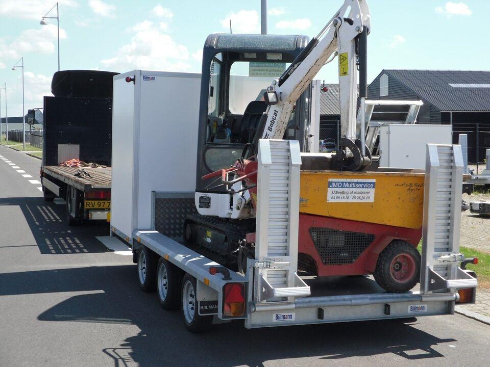 Maskintrailer, BIILMANN MC1735, lastevne (kg): 2580