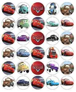 Disney Cars Edible Cake Toppers