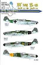 EagleCals Decals 1/48 MESSERSCHMITT Bf-109K-4 Fighter JG27 & JG53