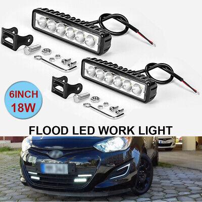 "2x 6/""INCH 36W LED WORK LIGHT BAR FLOOD OFFROAD ATV FOG TRUCK LAMP SUV 4WD UTE"