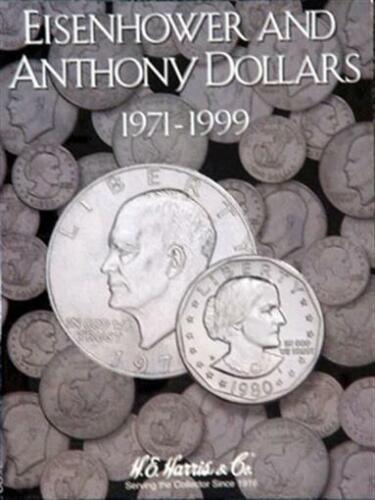 Coin Folder For US Eisenhower SBA Anthony Dollars 1971-1999 Harris Album 2699